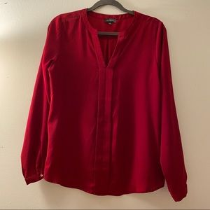 The Limited   Deep red v-neck blouse